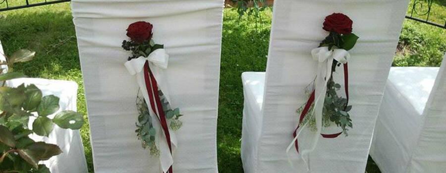 Beispiel: Kreative Hochzeitsfloristik, Foto: Event-Floristik Isabella Neumeister.