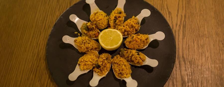 Cucharitas de arroz de verduras
