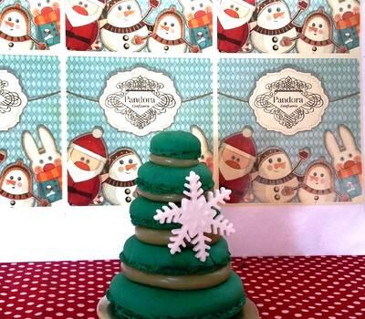 Mini árvore de Natal de macarons: R$12,00