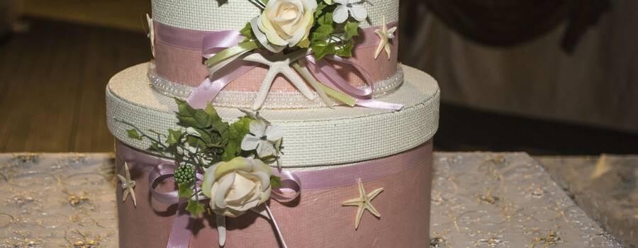 Porta buste tema mare rosa