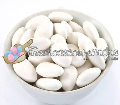 Amêndoas Confeitadas Branca Premium - Ideal para Casamentos.