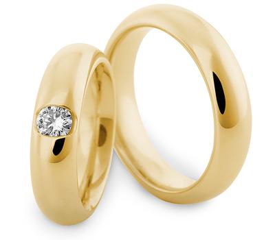 Beispiel: Trauringe - Gelbgold, Foto: Marrying Trauringe München.