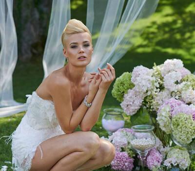 Beispiel: Fühlen Sie sich wohl in Ihrem Brautkleid, Foto: Mery's Couture Bad Ragaz.