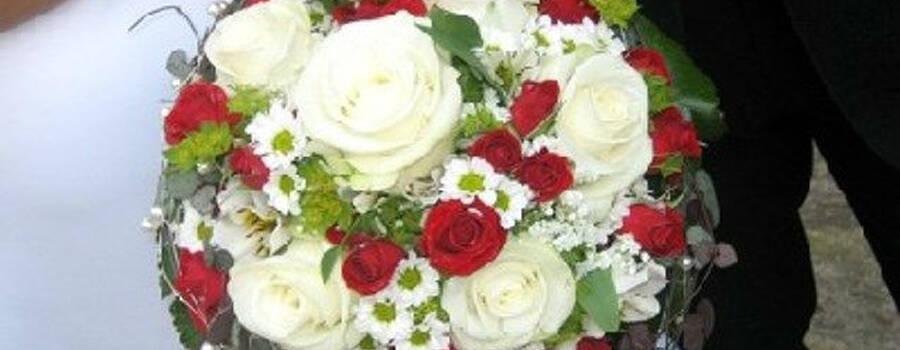Beispiel: Ihr persönlicher Brautstrauß, Foto: Blumen Kleissner.
