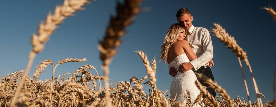 Plenerowa sesja ślubna