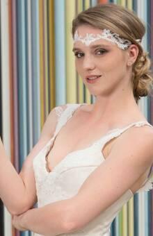 Beaumenay Joannet Paris - accessoire bohême,  headband dentelle de calais