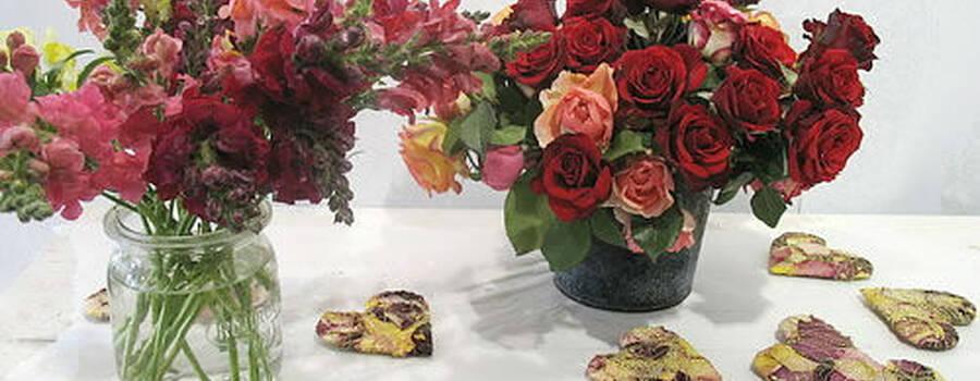 Beispiel: Florale Eventdekoration, Foto: Frankfurter Blumenbote.