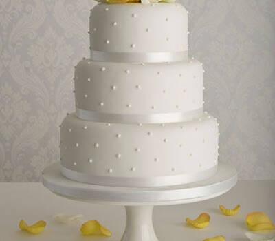 bruidstaart gemaakt