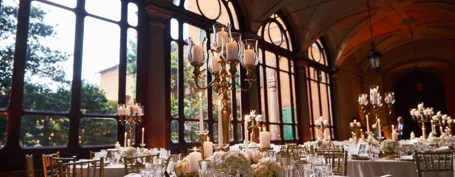 Lo Scalco catering ricevimenti Firenze Mise en place dorata