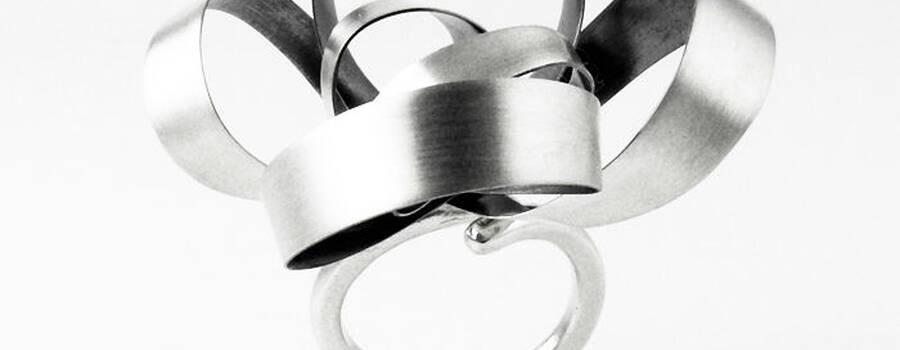 Anillo Bora·L en plata de ley