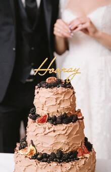 Свадебный торт перед самым торжественным моментом :)