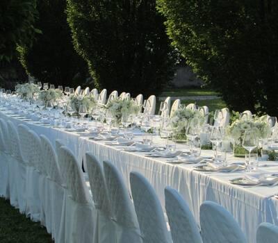 Allestimento floreale tavolo imperiale