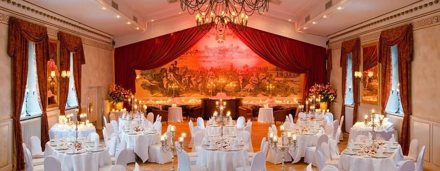 Beispiel: Festsaal - Bankett, Foto: Wolkenburg.