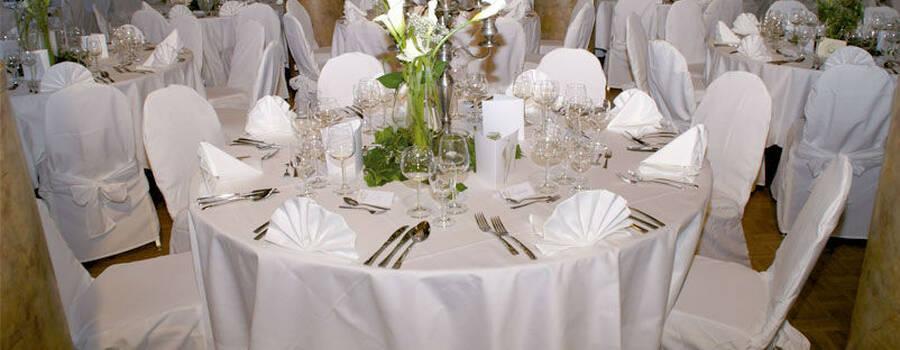 Beispiel: Hochzeitsdekoration, Foto: Regensburger Ratskeller.