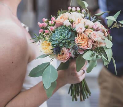 Bouquet de mariée champêtre et élégant