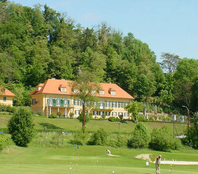 Beispiel: Außenansicht Schloss St. Veit, Foto: Schloss St. Veit.
