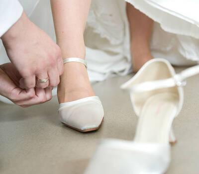 Hochzeitsfotografie, get dressed