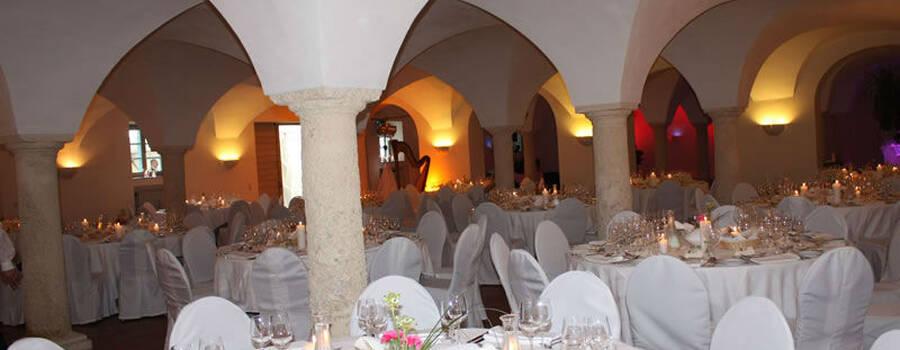 Beispiel: Hochzeitsdekoration, Foto: Restaurant Gänsbauer.