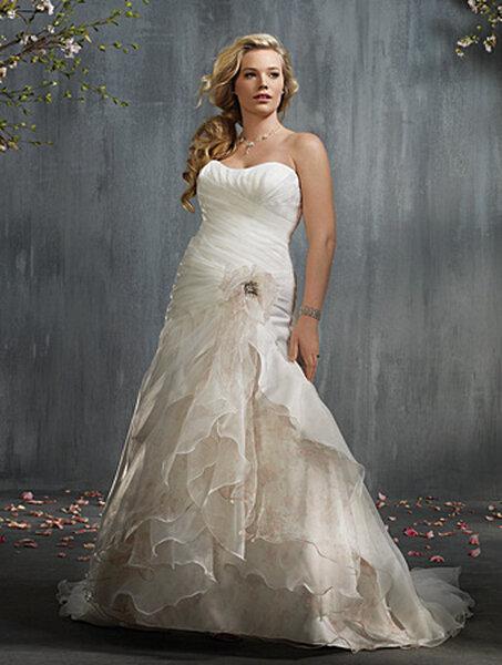 Spanish plus size wedding dresses