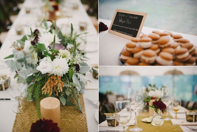 Decoração de mesa de casamento para o inverno. Foto: Alexandra Roberts