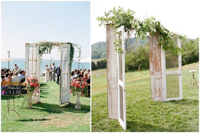 Декор свадьбы с дверью