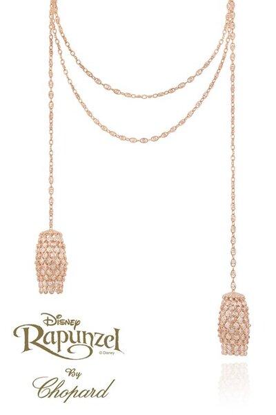 Collar de oro inspirado en Rapunzel