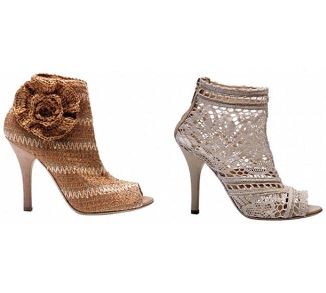 Sapatos com crochet Dolce & Gabanna