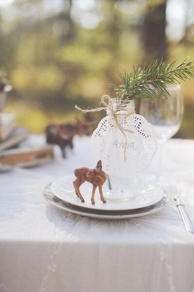 Hochzeits-Locations: Kleines Reh auf Teller