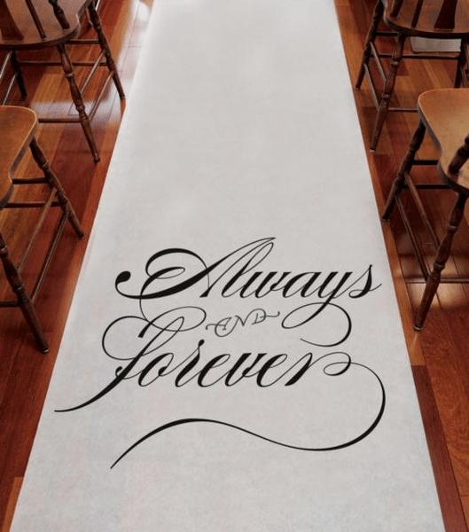 Idéia para decorar o caminho até o altar. Foto: Making Memories and More