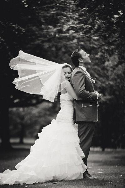 Lange Brautschleier