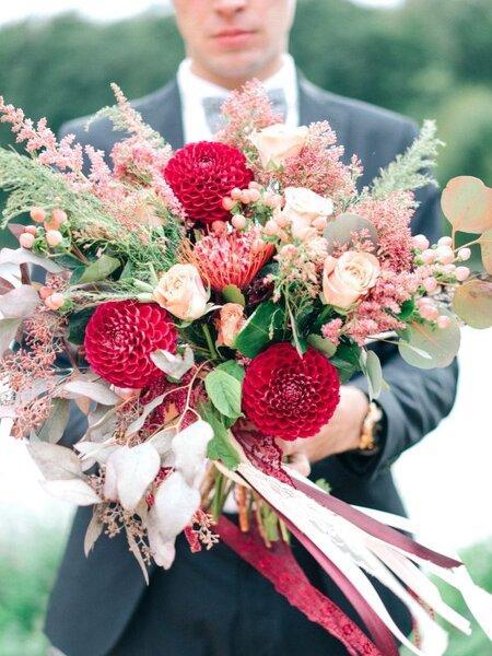 Осенние цветы на свадьбу