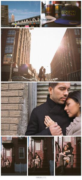 Sesión de fotos pre boda de María y Pablo en Brooklyn, Nueva York - Foto Marcos Valdés