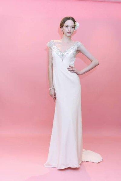 Vestido de noiva Coleção Primavera 2013. Foto: Badgley Mischka
