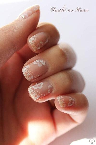 id es de nail art sp cial mariage pour des ongles originaux. Black Bedroom Furniture Sets. Home Design Ideas