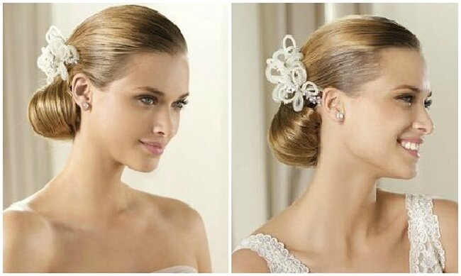 Veli, accessori per capelli e acconciature sposa 2013