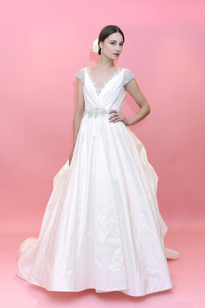 Vestido de novia de Badgley Mischka. Primavera 2013