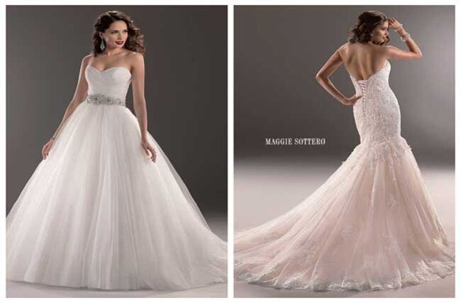 Vestidos de noiva de Maggie Sottero Classic Styles.