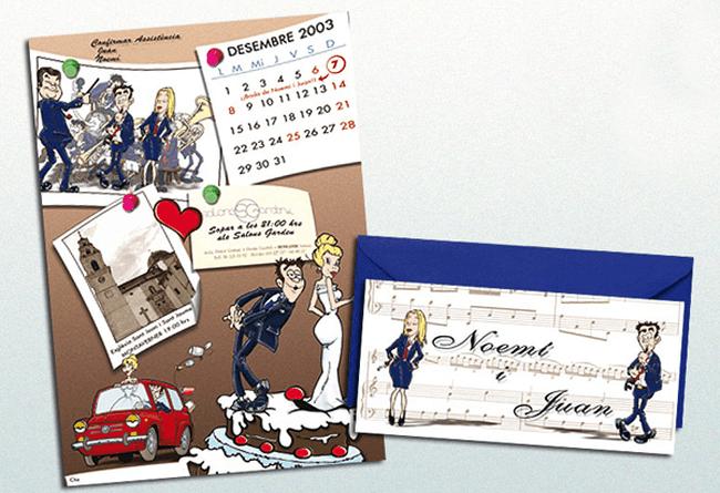 Tarjeta caricaturas tamaño folio de Dadacuc
