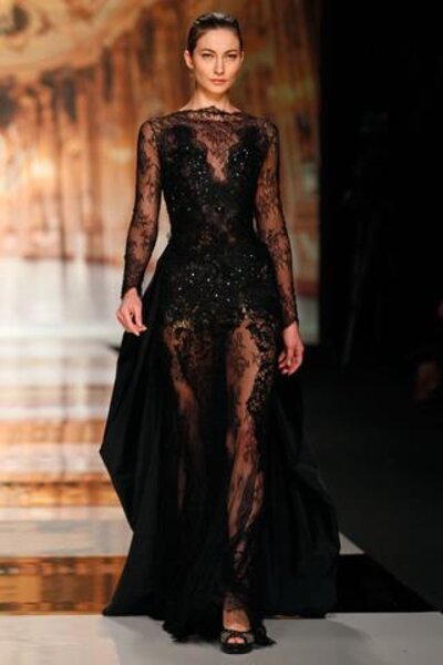 Czarna suknia ślubna z kolekcji Youlan Cris 2014