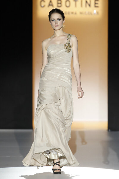 Gouden feestjurk bruiloft - Cabotine By Gema Nicolas
