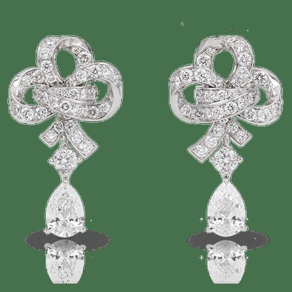 Aretes de diamantes - Joyas Fabergé 2012. Foto: www.faberge.com