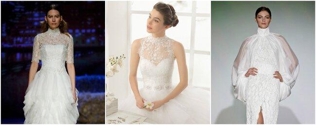 Vestidos de novia con cuello cisne 2016.