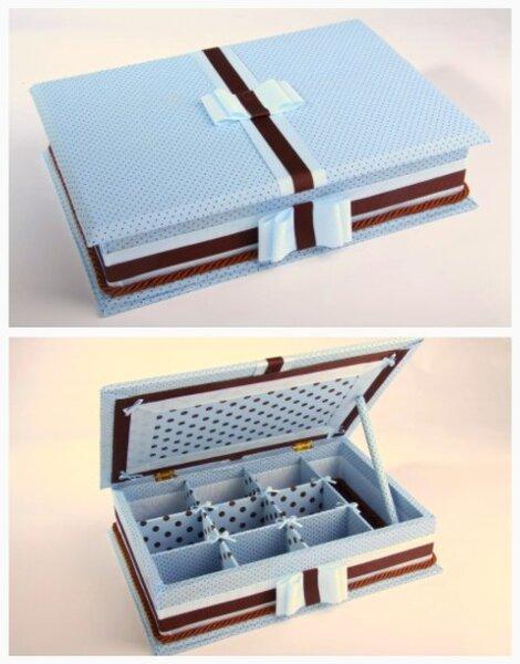 A caixa forrada para receber os mimos. Foto: Caixa Forrada