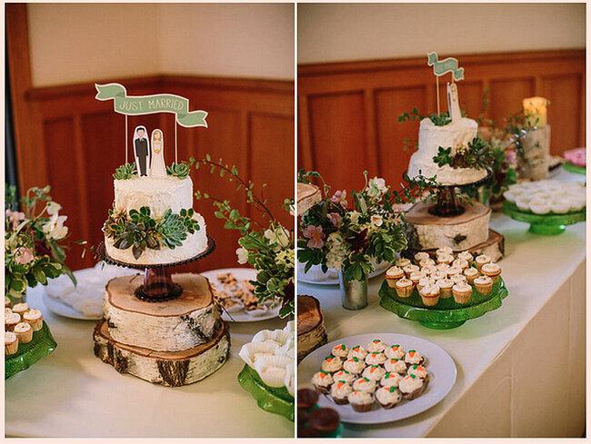 Un salón con paredes de madera y un montaje con las mismas texturas se verán geniales en tu boda - Foto: Danielle Capito