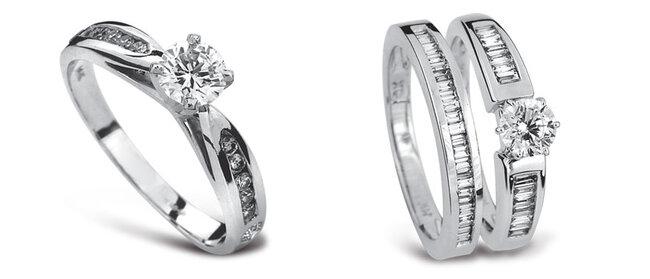 Anelli con diamante Foto: Guvier joyeria y relojeria