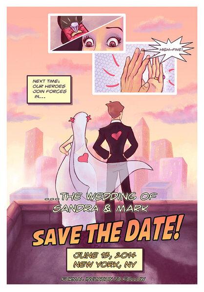 Save the date originais para seu casamento. Foto: Etsy