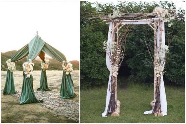 Les fleurs et drapés peuvent recouvrir élégamment tout type d'autel.