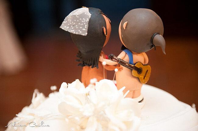 Originales figuras para decorar la tarta de boda: Adriana Carolina
