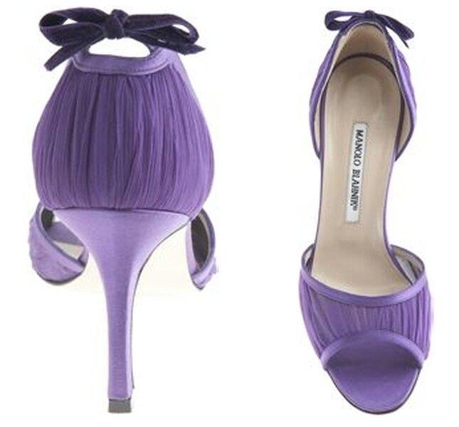 Sandales à talons violette Manolo Blahnik