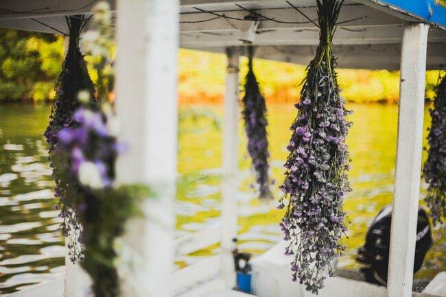Hochzeits-Dekoration: Lavendel als hängende Dekoration